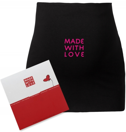 "Umstandsmode, Bauchband in 4 Farben ""MADE WITH LOVE!"", inklusive Geschenkverpackung"