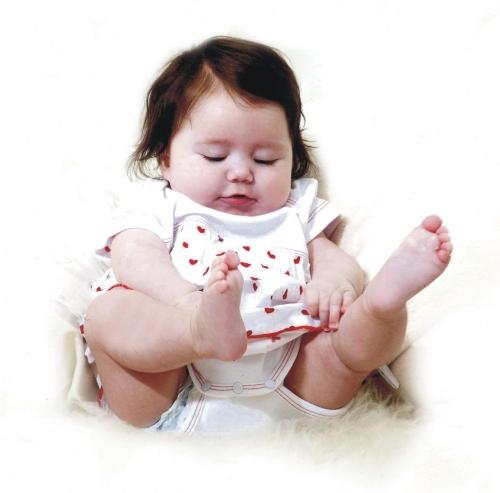 Bodykleid mit Herzchen Rock aus Bio Baumwolle ♥ Babykleid