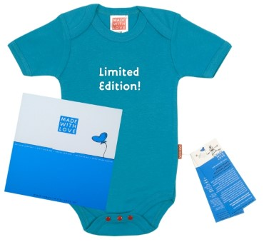 "Baby Body türkis ""Limited Edition!"", inklusive Geschenkverpackung"