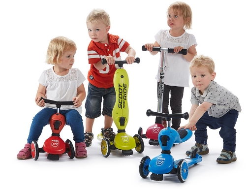 "2 in 1 Tretroller ""Highwaykick 1"" Scoot and Ride, wächst mit! 1 - 5 Jahre"