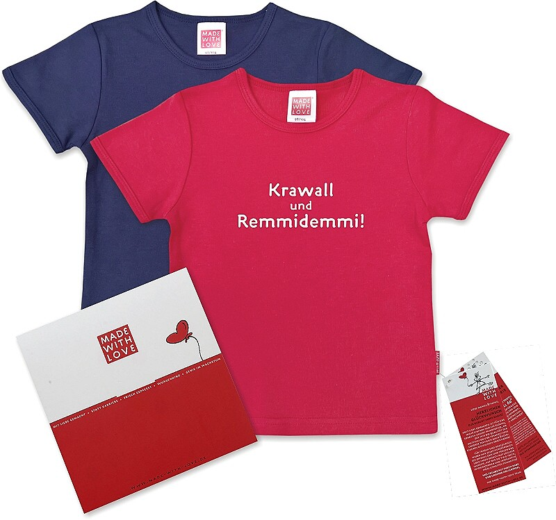 buntes t shirt f r kinder krawall und remmidemmi inklusive geschenkverpackung. Black Bedroom Furniture Sets. Home Design Ideas